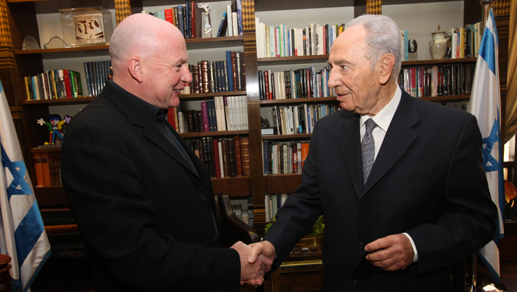 Kevin Roberts and Shimon Peres
